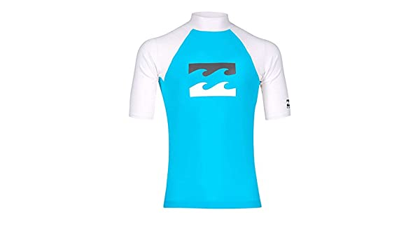 BILLABONG Kids Youth Junior Team Wave Short Sleeve Quick Dry Lightweight Rash Vest Top Ocean Silky-smooth feel