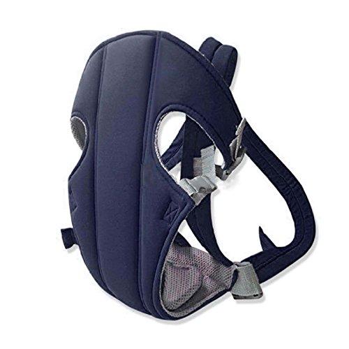 Kompassswc Ergonomische Babytrage Sicherheit verstellbar Kindertrage bequem Atmungsaktiv Rückentrage Bauchtrage für Neugeborene & Säuglinge & Kleinkinder bis 15kg (Blau)
