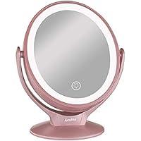 Aesfee Espejo de Maquillaje con 21 Luces LED, Aumento de 1x / 7X Espejo de
