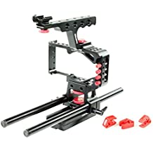 CAMTREE HUNT Mod Cage Rig for Blackmagic Pocket Cinema Camera (CH-MODC-BMPC) with Top Handle, Rod Support + Free Storage Case