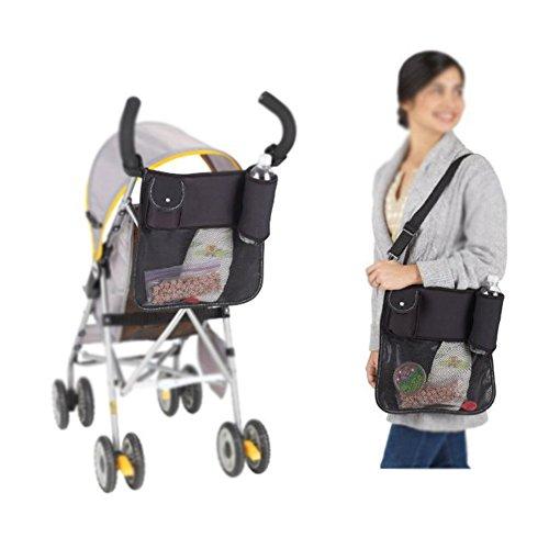 Multifonction bébé Poussette Organiseur Sac de rangement Sac à langer pour poussette Noir