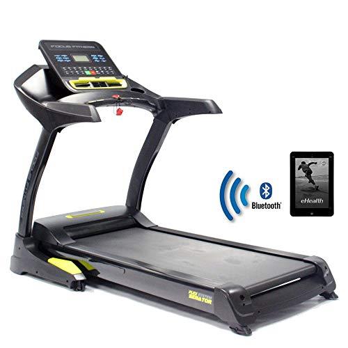 Focus Fitness Laufband Senator iPlus - 3 PS 22 km/h - Smartphone/tablet App kompatibel - Klappbar - Belastbarkeit bis 160 kg - Professionell Treadmill