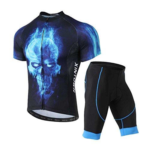 XINTOWN Bicicleta Ropa transpirable secado rápido Hombre Cilindro de equipación de - Bicicleta de manga corta camiseta + pantalones cortos con asiento acolchado para ciclismo Azul negro