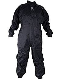 Richa Typhoon - Mono impermeable para motocicleta, color negro