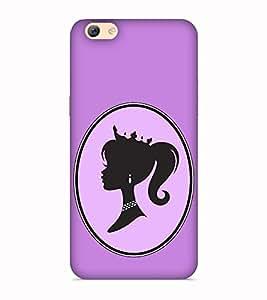 Printvisa Fashion Girl Girly Violet Designer Hard Back Case For Oppo F3+ :: Oppo F3 Plus