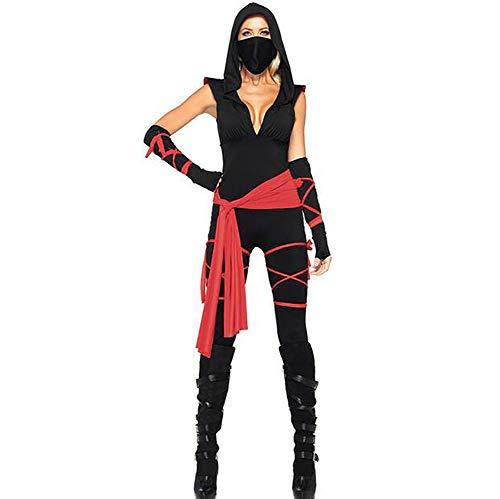 SHANGXIAN Frau Ninja Kostüme Halloween Party Mädchen Cosplay Attentäter Bodysuit Urlaub Geschenke,M