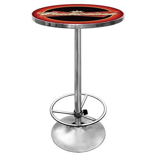 Trademark Gameroom Budweiser Chrom Pub Tisch