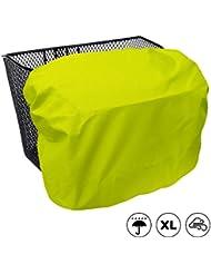 Extra große, wasserdichte Regenhülle / Abdeckung für Fahrradkörbe, Koffer, Postkisten, Aufbewahrungsboxen - MadeForRain CityTurtle XL