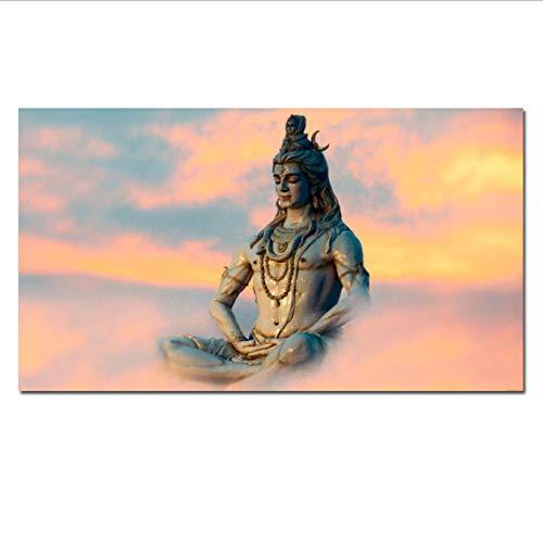 Hd Print Indische Kunst Religiöse Buddha Figur Shiva Lord Malerei Auf Leinwand Psychedelic Poster Moderne Wandbild Für Wohnzimmer 40X70 cm Ohne Rahmen