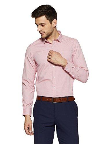 Excalibur EX Men's Solid Regular Fit Formal Shirt (276432437 RED 40 FS)