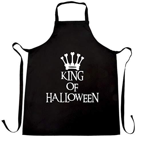 Neuheit Spooky Schürze des Chefs King Of Halloween Crown Black One Size
