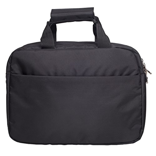 Cosmus Polyester 16Litres Black Laptop Briefcase