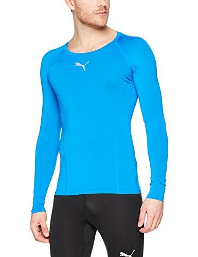 Puma Herren Liga Baselayer Tee Ls Shirt, Electric Blue Lemonade, XL - Ärmelloses Lauf-shirt
