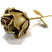 """♥ Rosa Eterna Hierro Forjado Dorada""""Ideal para regalo del Día de la Madre, Sant Jordi, San Valentín, Novia, Pareja, Cumpleaños, Navidad, Decoración, Interiores"""" by Forging Art Bcn"""