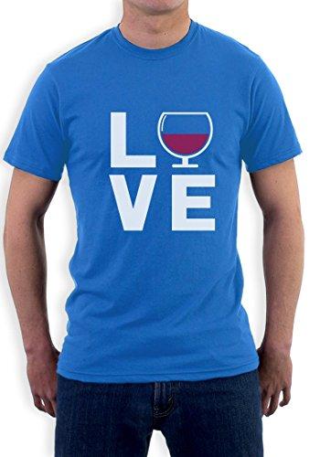 Love Wine - Geschenkidee T-Shirt für Wein - Fans T-Shirt Hellblau