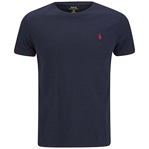 ralph-lauren-t-shirt-a-col-ras-du-cou-et-manches-courtes-pour-homme-coupe-ajustee-coton-bleu-marine-