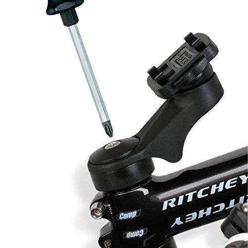 QuickMOUNT 3.0 Fahrrad Vorbau / Ahead Halter Vorbauhalterung (vibrationsfrei, Wicked Chili Schnellverschluss, Made in Germany) schwarz -