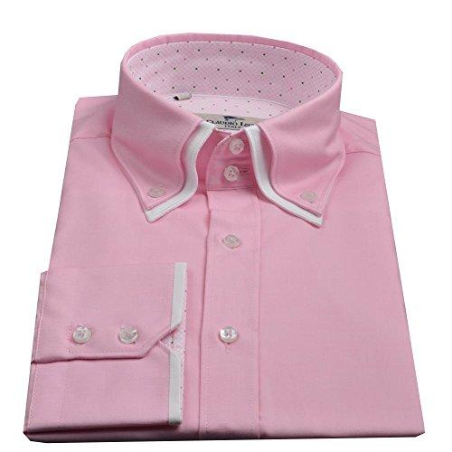 Claudio Lugli collo doppio, Camicia da uomo Pink