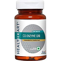 Healthkart CO Q 10 Co-enzyme Q 10 - Ubiquinone, antioxidant 100mg, antioxidant for heart health, 60 capsules