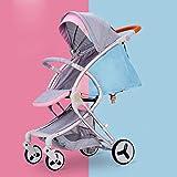 Passeggino per Bambini Passeggino Travel System 3 in 1 Passeggino Combinato Buggy Passeggino per Bambino Porta Zanzariera Pieghevole,Blue