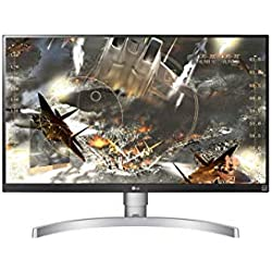 LG 27UK650 27 inch 4K UHD HDR 10 Height Adjustable IPS Monitor (3840 x 2160, 2x HDMI, DisplayPort, 350 cd/m2, 5ms, AMD Freesync) White