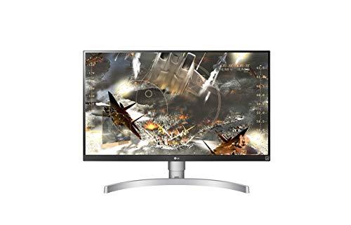 LG 27UK650-W 68,58 cm (27 Zoll) UHD 4K IPS Monitor (HDR10, AMD Radeon FreeSync, 99{2a0a475d6dc12e8945b684463cff865571c08c4d99b566c6901bc8c43647fe23}sRGB, DAS Mode), schwarz weiß