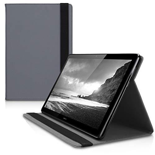 kwmobile Huawei MediaPad T5 10 Hülle - Tablet Cover für Huawei MediaPad T5 10 - Slim Case in Anthrazit