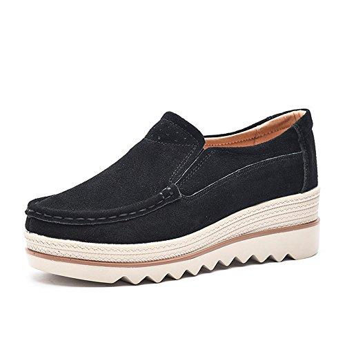 64929a943220 NEOKER Women Ladies Loafer Flats Platform Shoes – FootWear4You