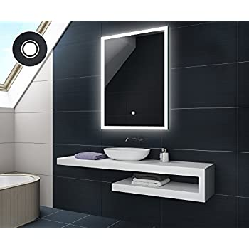 CUSTOM 40 x 60 cm Design Badspiegel mit LED Beleuchtung von Artforma