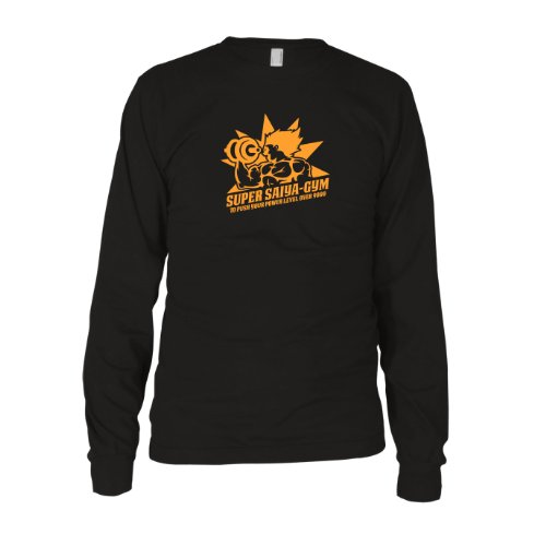DBZ: Super Saiya Gym - Herren Langarm T-Shirt Schwarz