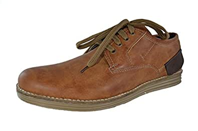 Fossa Men's Brown Faux Leather Casual Shoes - 10 UK