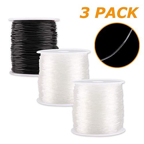 0.8 mm Hilo Elástico Pulseras Transparente Cuerda