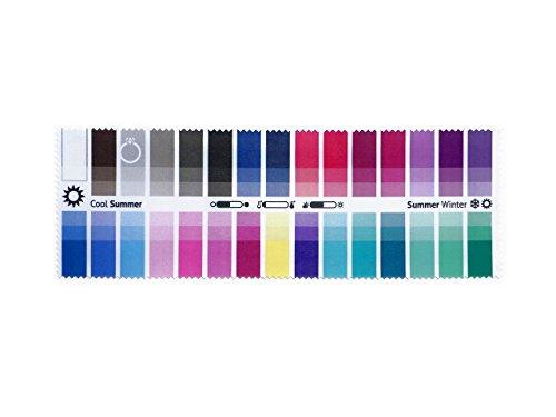 farbkarte sommertyp Stoff-Farbpass Sommer-Winter (Cool Summer) mit 30 typgerechten Farben zur Farbanalyse, Farbberatung, Stilberatung
