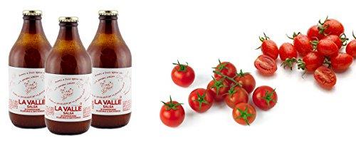 3x330g Tomatensoße aus italienischen Dattel- und Kirschtomaten