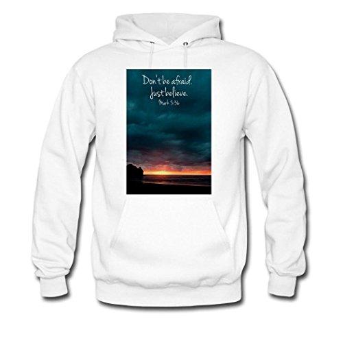 HGLee Printed DIY Custom Bible Verses Quotes Women's Hoodie Hooded Sweatshirt White--2