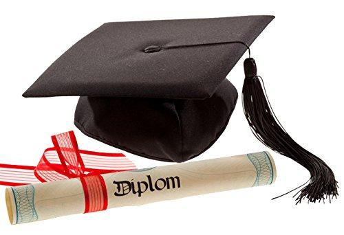 Deluxe Bachelor Doktor College Absolventen Hut Doctor Cap Doktorhut (Deluxe Hut)