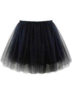 Mädchen Tutu Rock vier Layer Lace Cover Baumwolle Futter für Party Zeremonie Casual Party