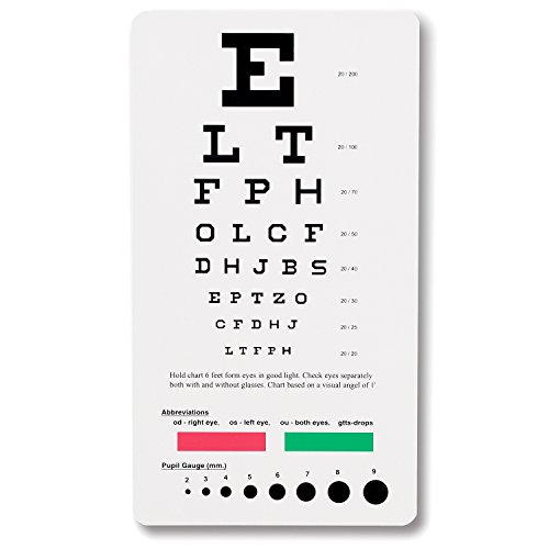 Snellen Pocket Eye Chart - Eye Chart