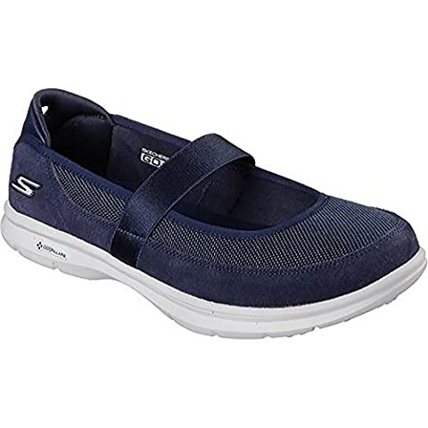 Skechers Womens/Ladies Go Step Snap Suede Athletic Mary Jane Shoes