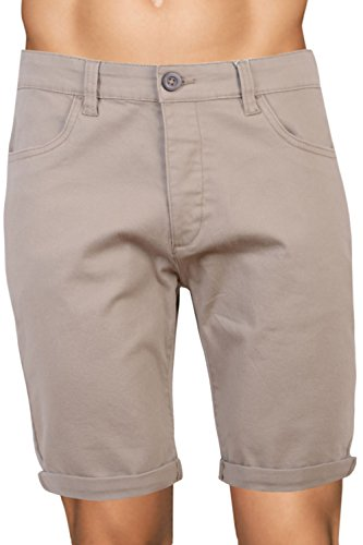 CrossHatch Herren Chino Shorts - Stein - Brandons, 30 Waist x Regular -