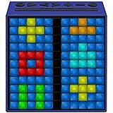 """Divoom TIMEBOXBLUE - Altavoz con Bluetooth y efectos luminosos (11"""", 5W potencia, radio FM, pixel art, mensajes de voz) color azul"""