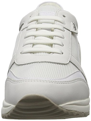Geox D Airell C, Sneakers Basses Femme Blanc (White/Off Whitec1352)