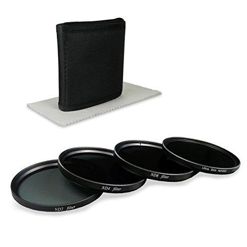 SMARDY 46mm ND Filterset für Panasonic Lumix DMC-FZ28 | DMC-GF6 | DMC-GX7 - inkl. Filter Kit (ND1000 + ND2 + ND4 + ND8) + Filteretui + High Tech Microfaser Reinigungstuch