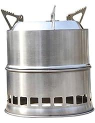SODIAL(R)Portatil Estufa Estufa de Madera/Estufa de lena Solidificado estufa de