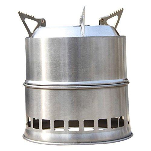 SODIAL(R)Portatil Estufa Estufa de Madera/Estufa de lena Solidificado estufa de alcohol cocina...