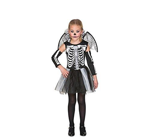Fyasa Disfraz de esqueleto 706459-T02, tamaño mediano para niñas
