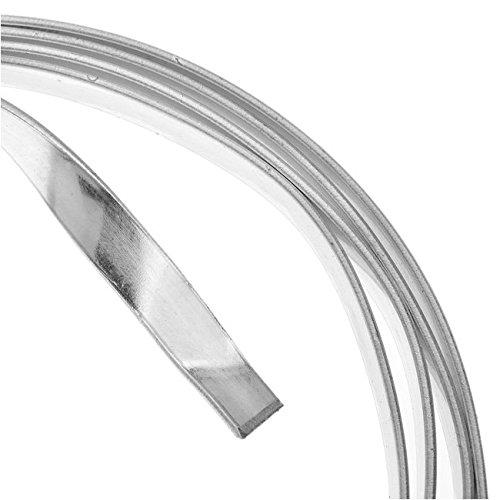 Beadalon Metall Artistic Draht Flat-Silver-Plated- 21Gauge, 5MMX. 75mmx3'
