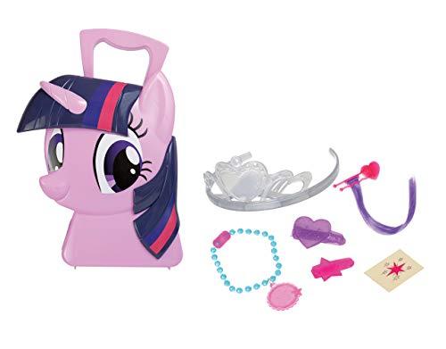 Jamara 410099 Koffer Twilight Sparkle-6-Teiliges Spieleset, stylen wie eine Prinzessin, Stabiler und handlicher Tragekoffer, kindgerechte My Little Pony Design, pink (Little Pony-koffer My)