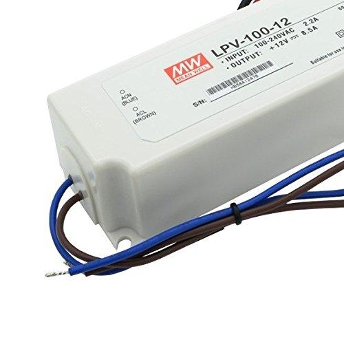 Preisvergleich Produktbild LED Netzteil 100W 12V 8.3A ; MeanWell, LPV-100-12