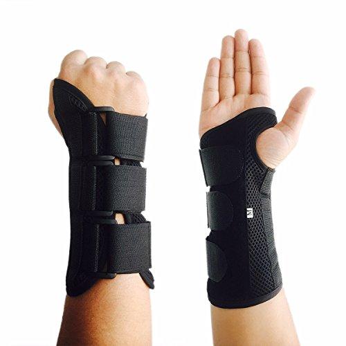 Fitdoo Handgelenkbandage Handgelenkstütze Handgelenkschoner für Karpaltunnelsyndrom Bruch Zerrungen Verstauchungen Schwellen Fasziitis und Arthrose Damen und Herren link S (Bowling Handschuh-handgelenk-unterstützung)